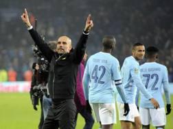 L'allenatore del City Pep Guardiola, 46 anni.
