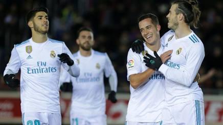 Gareth Bale (28 anni), in gol contro il Numancia. AFP