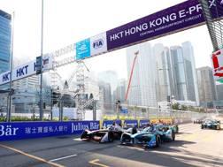 Una fase dell'ePrix di Hong Kong