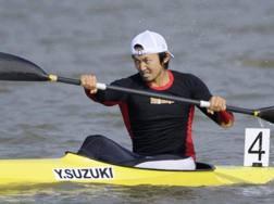 Yasuhiro Suzuki, 32 anni, in gara