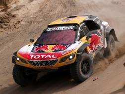 Stephane Peterhansel in azione alla Dakar. Getty