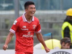 Han Kwang-Song, 19 anni, attaccante nordcoreano ora al Perugia. LaPresse