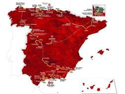 La cartina della Vuelta 2018