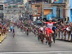 La vittoria di Matteo Malucelli, 24 anni, romagnolo dell'Androni-Sidermec, a San Cristobal