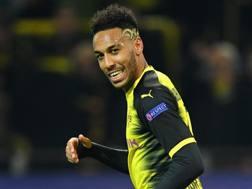 Pierre Aubameyang, 28 anni, attaccante del Borussia Dortmund. Getty