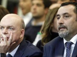 L'a.d. Marco Fassone (53 anni) e il d.s. Massimiliano Mirabelli (48 anni). LAPRESSE