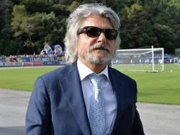 Massimo Ferrero, 66 anni, presidente Sampdoria. ANSA
