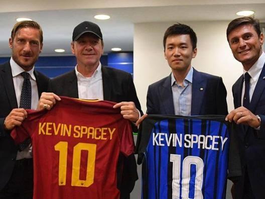Totti, Kevin Spacey, Steven Zhang e Javier Zanetti