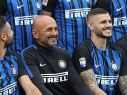 Luciano Spalletti e Mauro Icardi. Getty