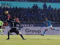 Il gol di Mertens. LaPresse