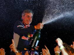 Carlos Sainz festeggia il successo alla Dakar auto 2018. Getty