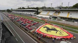 Una parata di Ferrari a Monza