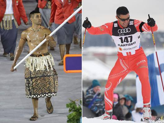 Pita Taufatofua, 34 anni, atleta di taekwondo e sci di fondo
