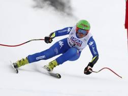 Johanna Schnarf in azione a Cortina. Ap