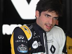 Carlos Sainz, pilota Renault in F.1. Afp