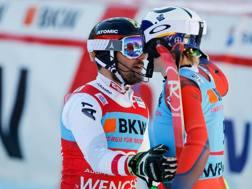 Marcel Hirscher e Henrik Kristoffersen a Wengen. Getty Images