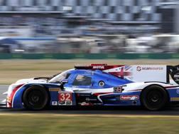 Fernando Alonso in azione con la Ligier a Daytona. Ap