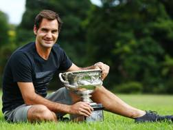 Federer in trionfo a Melbourne. Getty