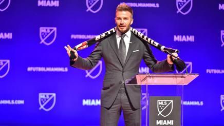 David Beckham presenta la nuova franchigia. Afp