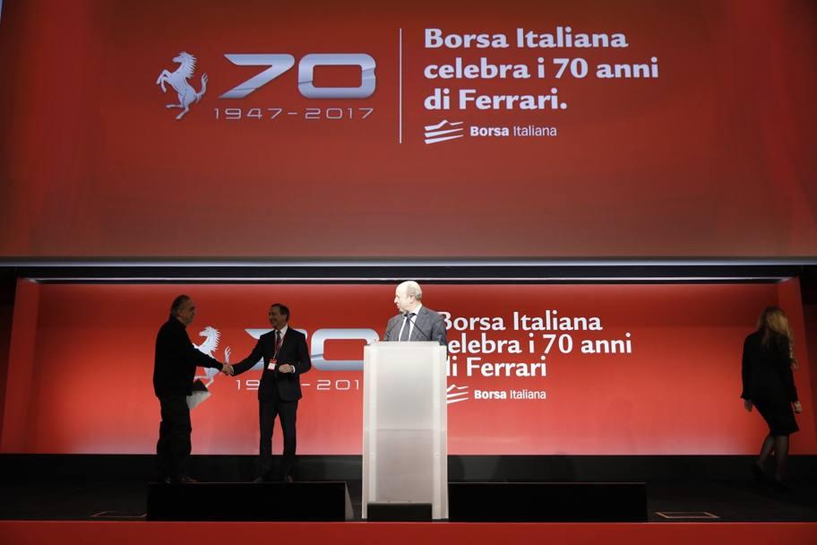 ferrari 70, anche la borsa italiana festeggia - la gazzetta dello
