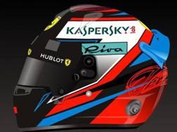 La grafica del nuovo casco di Kimi Raikkonen