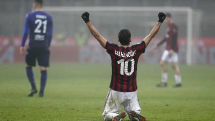 Hakan Calhanoglu in Milan-Lazio di campionato. LaPresse