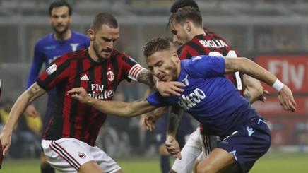 Leonardo Bonucci e Ciro Immobile in azione. Ap