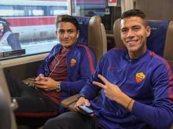 Hector Moreno (a destra) con Under. LaPresse