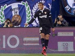 Luis Muriel in gol a Leganes. Epa