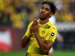 Aubameyang, 28 anni , ceduto dal Borussia Dortmund all'Arsenal per 63 milioni di euro più bonus. Afp