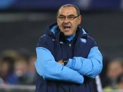 Maurizio Sarri (59 anni), terza stagione sulla panchina del Napoli. AP
