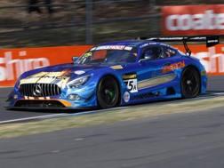 La Mercedes AMG GT3 di Marciello