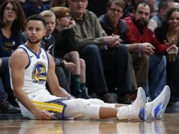 Stephen Curry, play di Golden State. Ap