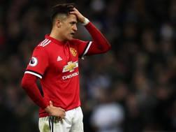 Alexis Sanchez, 29 anni, con la maglia del Manchester United.