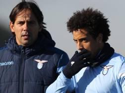 Simone Inzaghi e Felipe Anderson. Getty