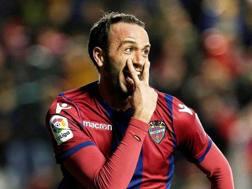 Giampaolo Pazzini, 33 anni, attaccante del Levante. Epa