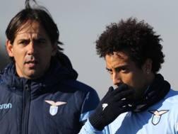 Simone Inzaghi (41) e Felipe Anderson (24). GETTY IMAGES
