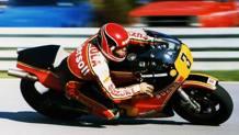 Randy Mamola con la Suzuki