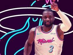 Miami ha già rimesso a Wade la sua maglia numero 3 (Twitter.com/Miamiheat)