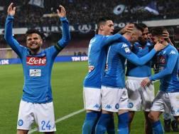 Gioia Napoli dopo il 4-1. Ansa