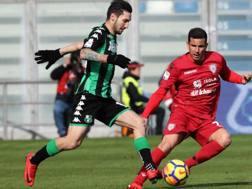 Matteo Politano (24) in azione contro il Cagliari. ANSA