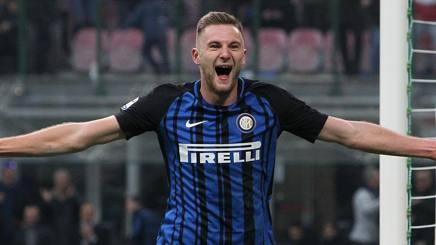 Milan Skriniar (23), prima stagione con la maglia dell'Inter. GETTY IMAGES