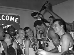 La leggenda del basket Wilt Chamberlain (1936-1999). Ap