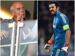 L'ex centrocampista della Germania campione d'Europa 1996 Mario Basler e Gigi Buffon.