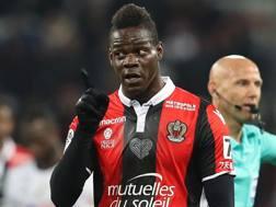 Mario Balotelli, 27 anni, attaccante del Nizza. Afp