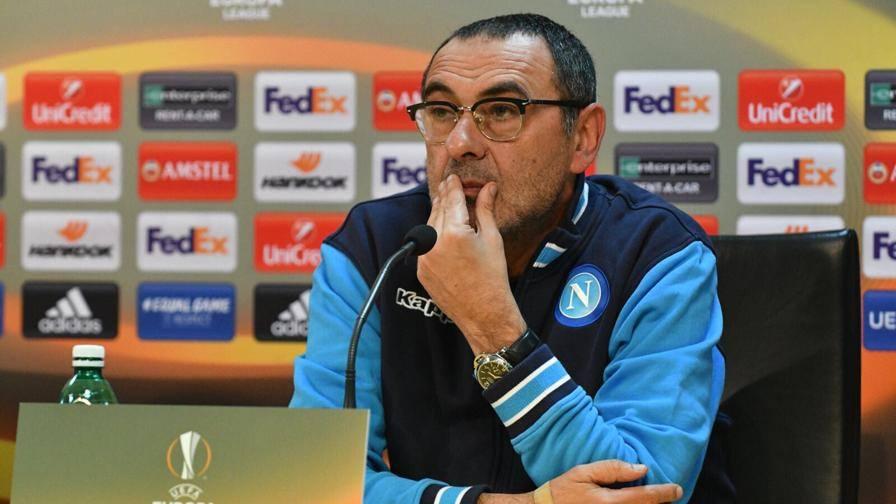 """Napoli, Sarri: """"Il Lipsia è entusiasmante, ma il nostro obiettivo è lo scudetto"""""""