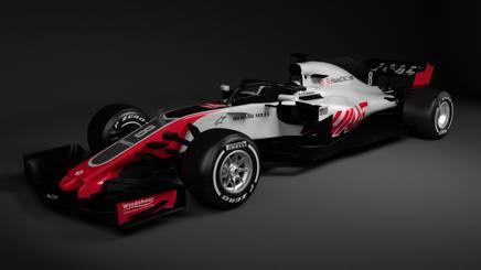 La livrea della nuova Haas F1 per il 2018