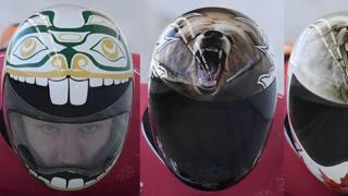 Teschi, tigri e aquile: i caschi pazzi dello skeleton