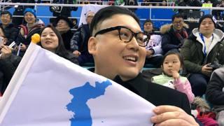 Giappone-Corea di hockey con il sosia di Kim