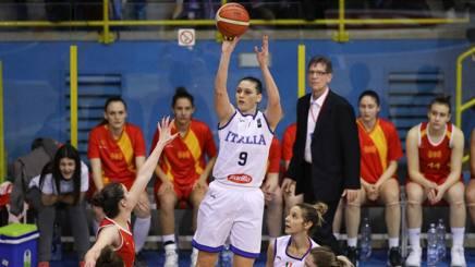 Cecilia Zandalasini al tiro. Ciamillo-Castoria